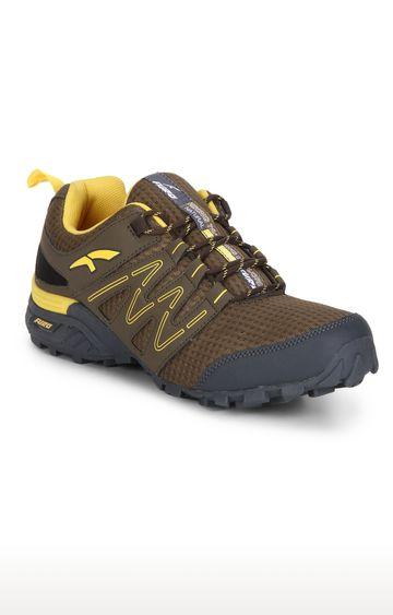 Furo   H20001 790 - Brown & Yellow Hiking Shoes