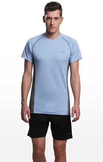 SilverTraq | Cool Blue Solid T-Shirt