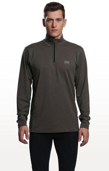 SilverTraq | Olive Solid Activewear Jacket