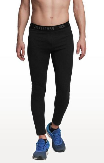 SilverTraq | Black Solid Trackpants