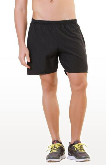 SilverTraq | Black Solid Shorts