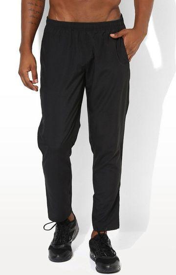 SilverTraq   Black Solid Trackpants