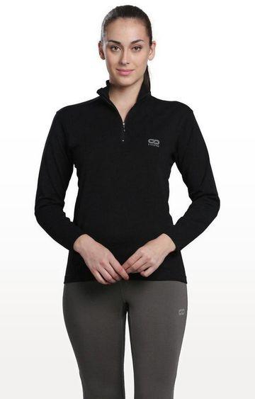 SilverTraq | Black Solid Activewear Jacket