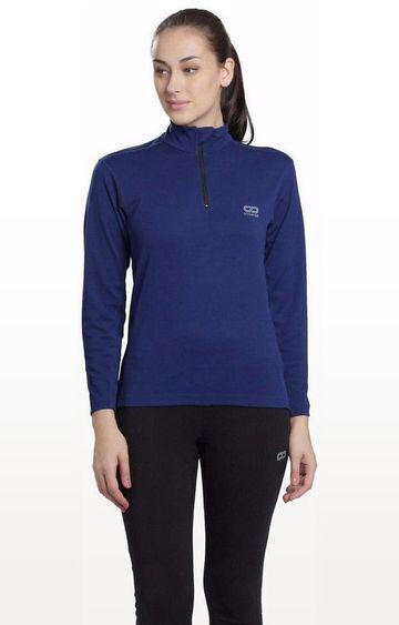 SilverTraq | Dark Blue Solid Activewear Jacket