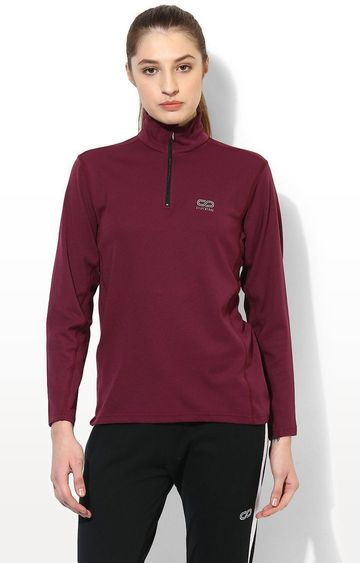 SilverTraq | Wine Solid Activewear Jacket