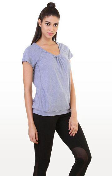 SilverTraq | Lavender Melange Top