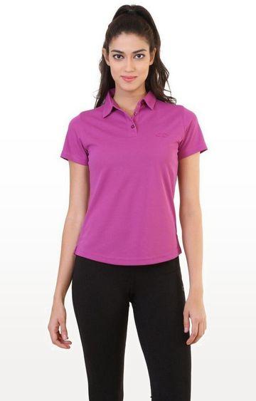 SilverTraq | Violet Solid T-Shirt
