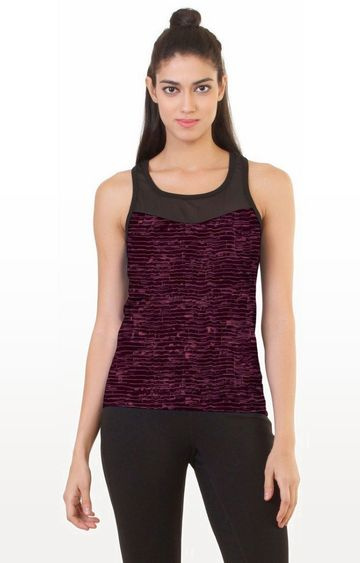 SilverTraq | Purple Solid Tank Top