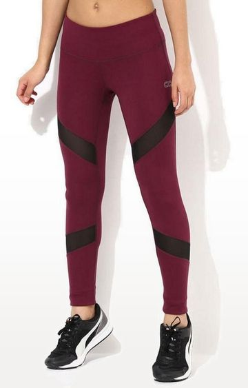 SilverTraq | Wine Solid Tights