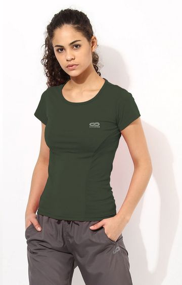 SilverTraq | Kombu Green Solid T-Shirt