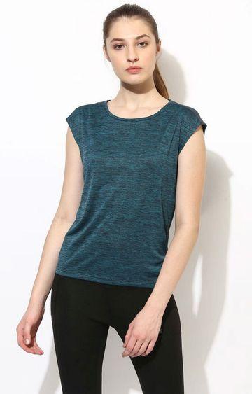 SilverTraq | Teal Melange T-Shirt