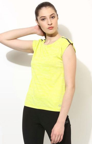 SilverTraq | Neon Yellow Solid T-Shirt