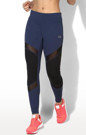 SilverTraq | Navy Colourblock Tights