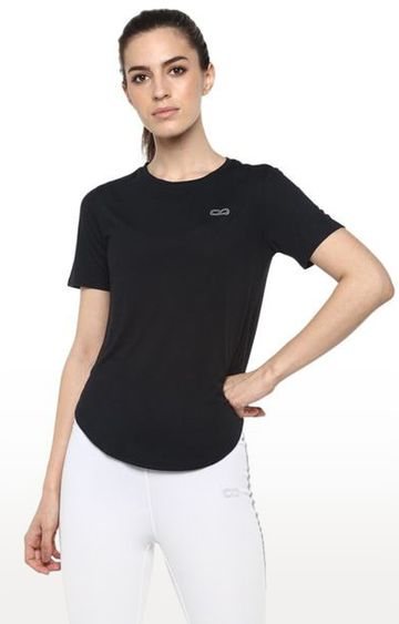 SilverTraq | Black Solid T-Shirt