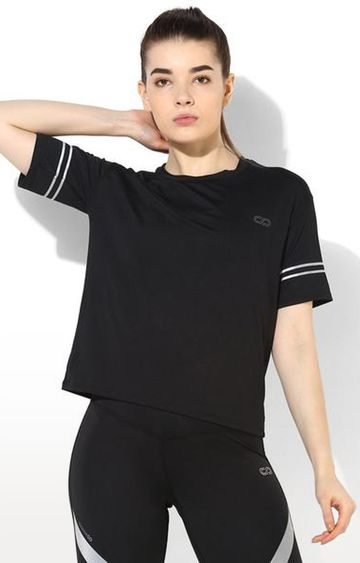 SilverTraq | Black Solid T-Shirt