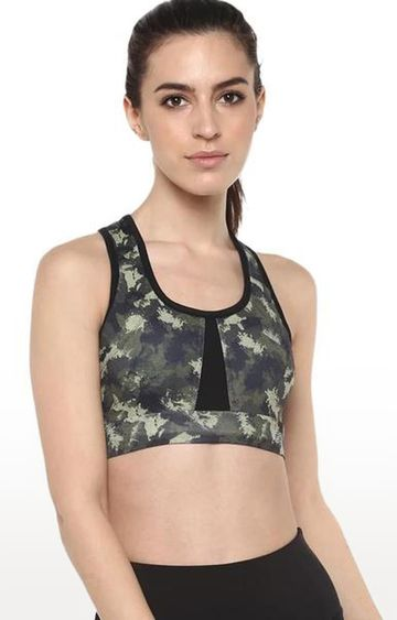 SilverTraq | Green Sports Bra