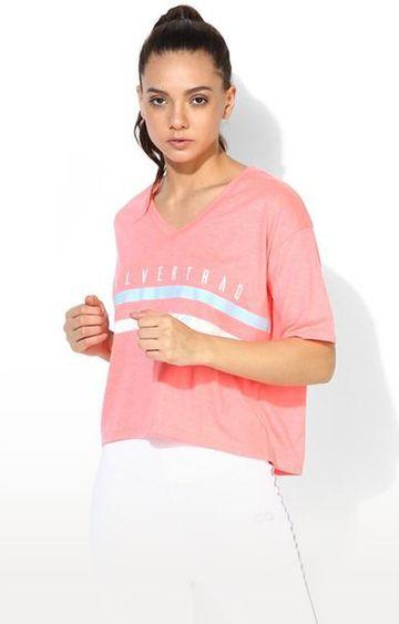 SilverTraq | Coral Striped T-Shirt
