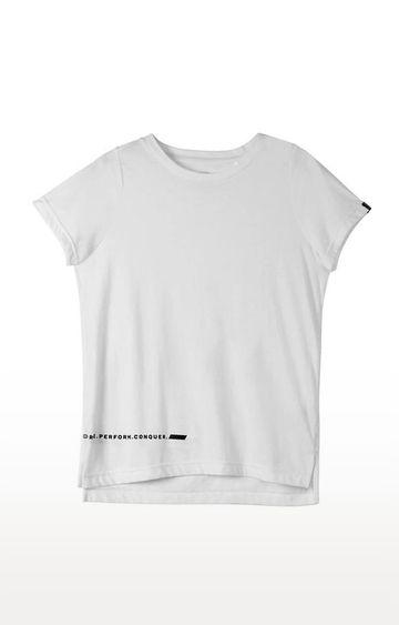SilverTraq   White Solid T-Shirt