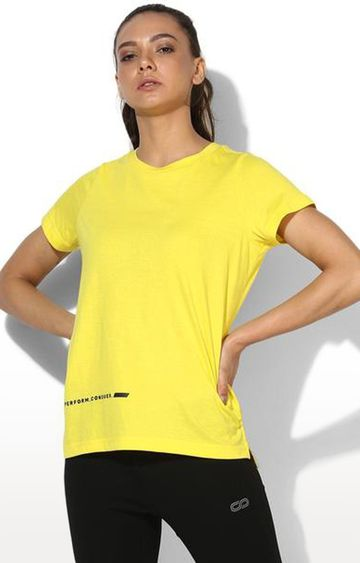 SilverTraq | Yellow Solid T-Shirt