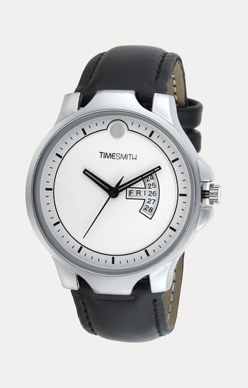 Timesmith | Timesmith Black Leather Analog Watch For Men