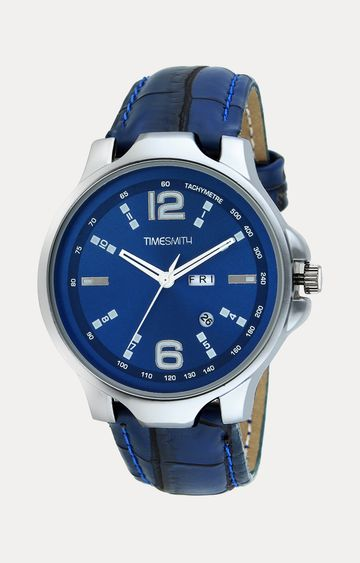 Timesmith | Timesmith Blue Leather Analog Watch For Men
