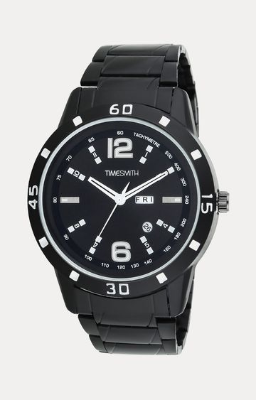 Timesmith | Timesmith Black Stainless Steel Analog Watch For Men