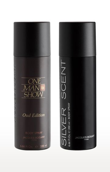 Jacques Bogart | One Man Show Oud and Silver Scent Deo Combo Set of 2