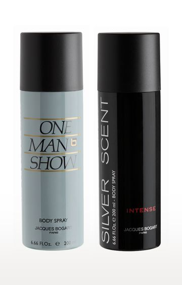 Jacques Bogart | Silver Scent Intense and One Man Show Deo Combo Set of 2