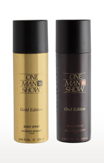 Jacques Bogart | One Man Show Gold and One Man Show Oud Deo Combo Set of 2