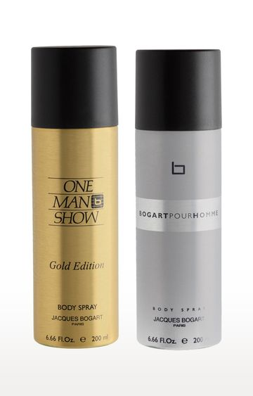 Jacques Bogart | One Man Show Gold and Pour Homme Deo Combo Set of 2