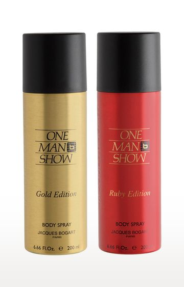 Jacques Bogart | One Man Show Gold Deo and Ruby Deo Combo Set of 2