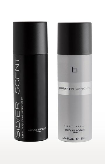Jacques Bogart | Silver Scent and Pour Homme Deo Combo Set of 2