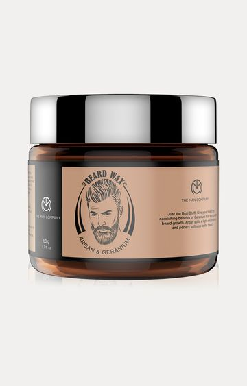 The Man Company | Argan & Geranium Beard Wax - 50 GM