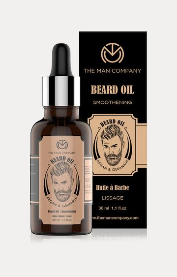 The Man Company | Argan and Geranium Beard Oil for Nourishment - 30 ML