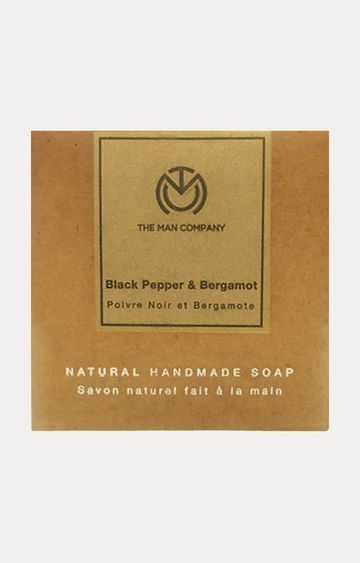 The Man Company | Black Pepper and Bergamot Handmade Soap - 125 GM