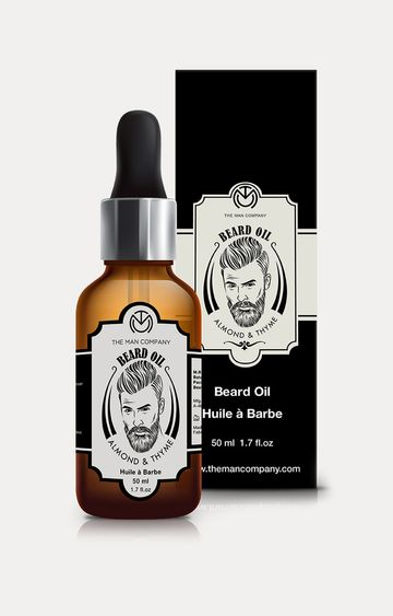 The Man Company | Almond and Thyme Beard Growth Oil - 50 ML