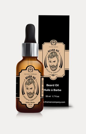 The Man Company | Argan and Geranium Beard Oil for Nourishment - 50 ML