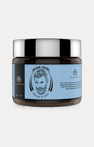The Man Company | Argan & Mint Beard Cream for Smoothening - 50 GM
