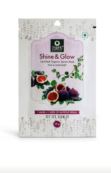 Organic Harvest   Shine & Glow Face Mask - 20g
