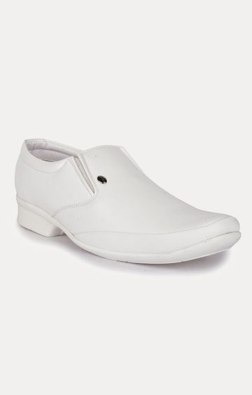Action | White Formal Slip-ons
