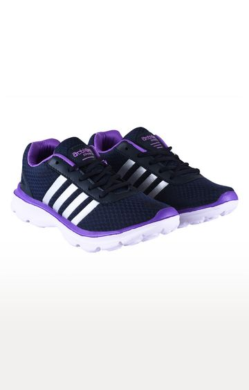 Action | Navy and Purple Running Shoes