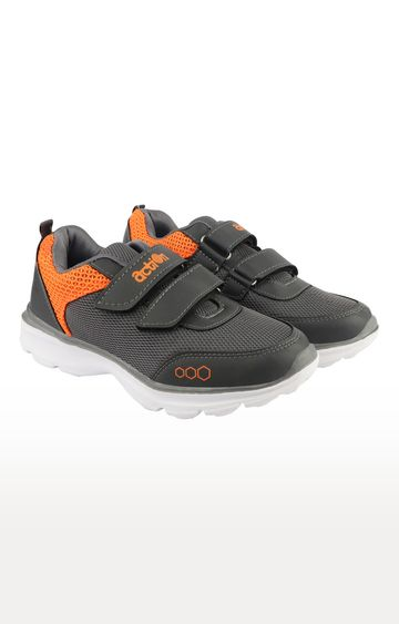 Action | Dark Grey and Orange Sports Shoes