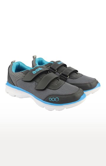 Action | Dark Grey and Sky Blue Sports Shoes