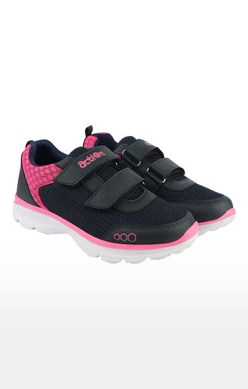 Action | Navy and Pink Sports Shoes