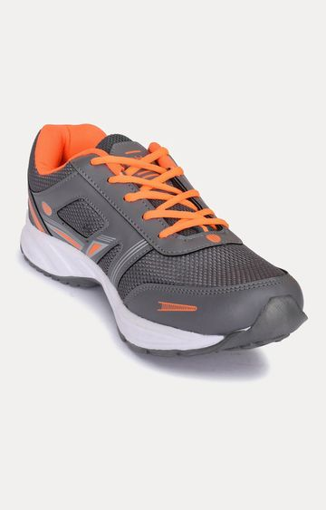 Action | Grey and Orange Sports Shoes