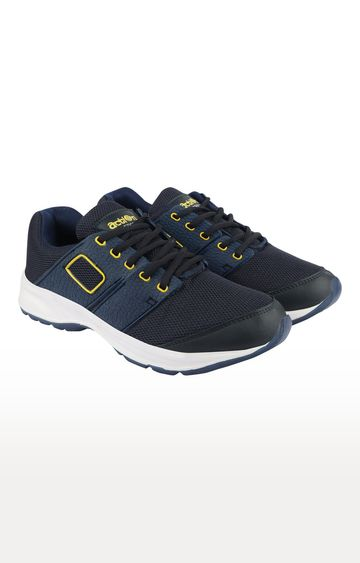 Action | Navy and Yellow Sports Shoes