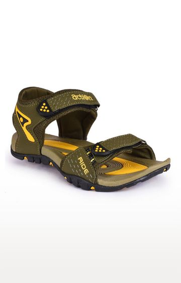 Action   Olive and Mustard Sandals