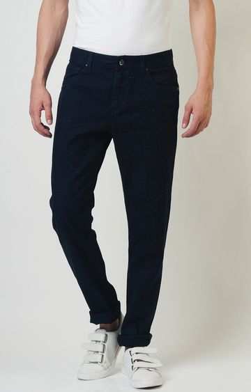 Blue Saint | Navy Solid Tapered Jeans