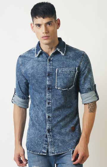 Blue Saint | Blue Solid Casual Shirt