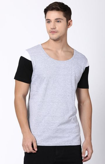 Blue Saint | Grey Solid T-Shirt